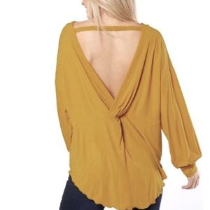 NWT Free People Untamed Gold Tunic Top